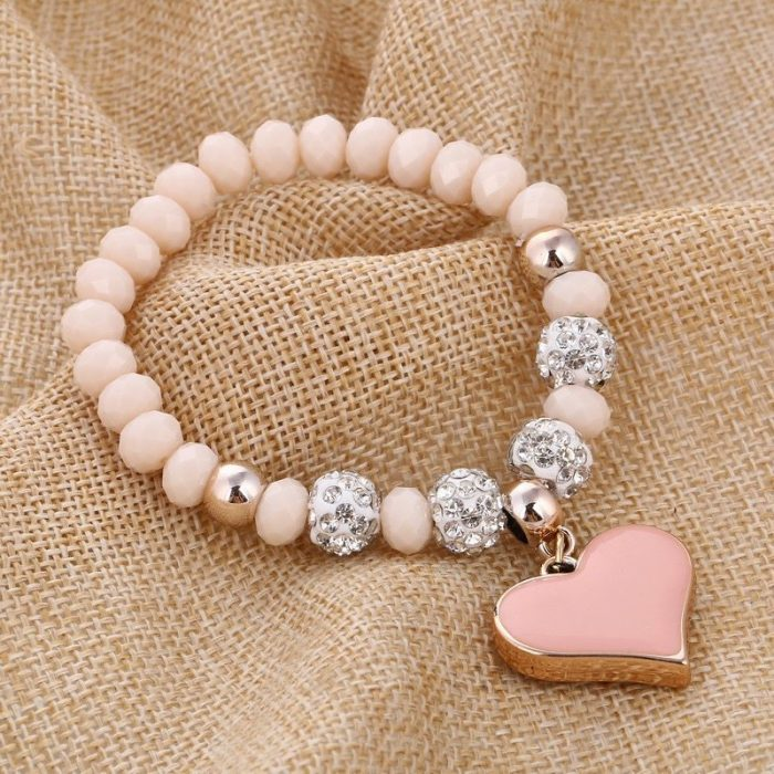 Heart Pendant Bracelets