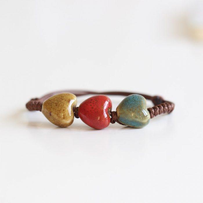 Ceramic Hearts Bracelet