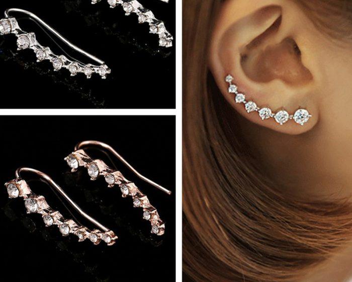 Climber Crystal Earrings
