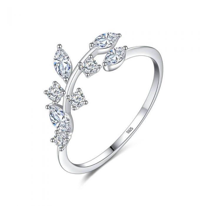 Sterling Silver Olive Leaf Ring