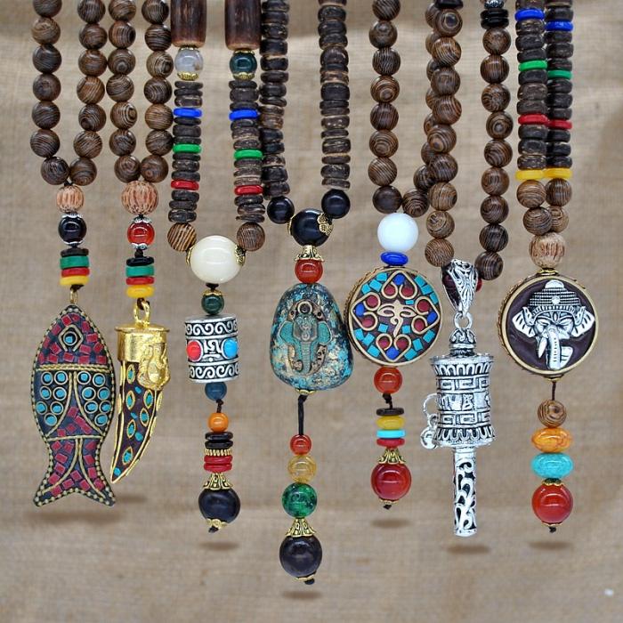 Wooden Men's Pendant Necklace