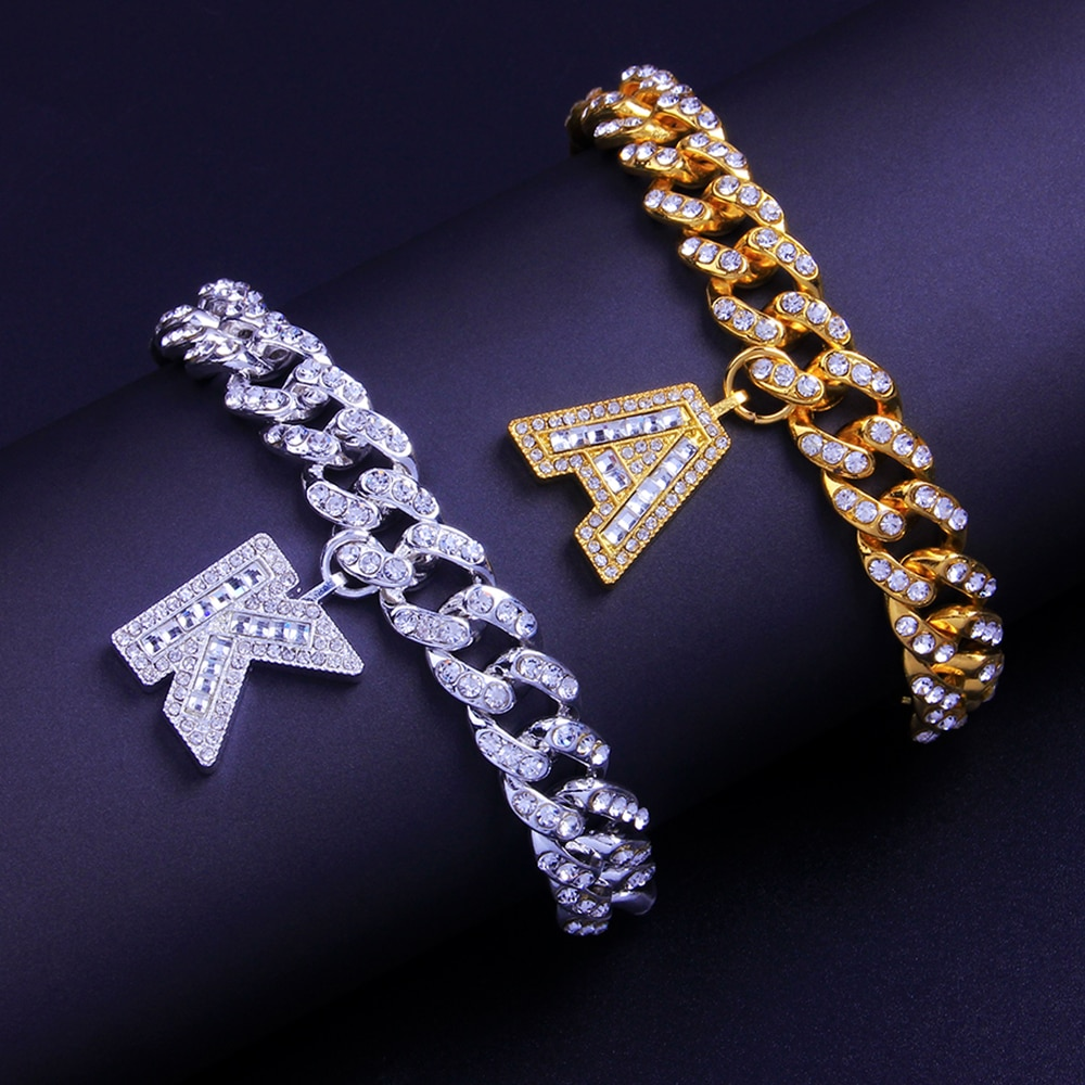 Women's Letter Bracelet in Gold and Silver