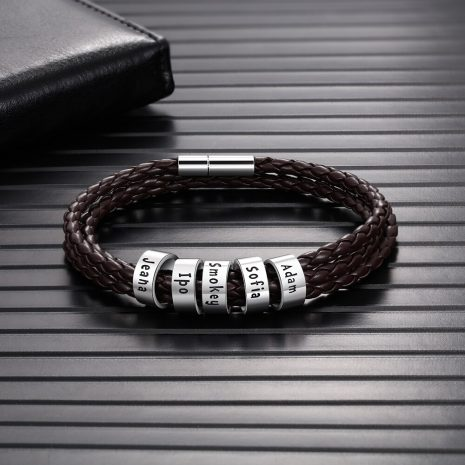 PU Leather Personalized Bracelet